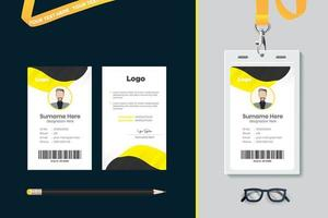 design do modelo do cartão de identificação vetor