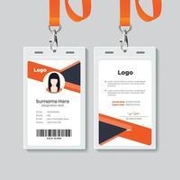design de modelo de cartão de identificação simples vetor