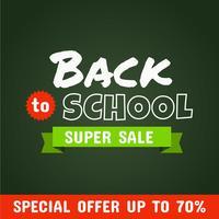 Voltar para a escola Super Sale vetor
