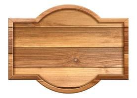 sinal de textura de madeira isolado no fundo branco. ilustração vetorial