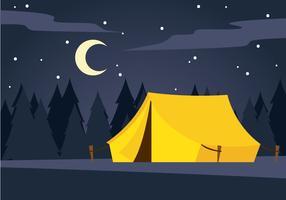 Acampamento noturno tranquilo vetor