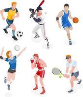 grupo de esportistas. ilustrações vetoriais. vetor