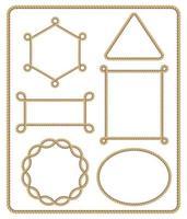 conjunto de quadro de corda marrom. ilustração vetorial. vetor