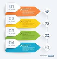 modelo de elementos de infográfico de negócios. ilustrações vetoriais. pode ser usado para layout de fluxo de trabalho, banner, diagrama, opções de número, web design, modelo de cronograma. vetor