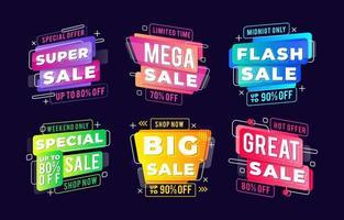 etiqueta de venda gradiente colorido vetor