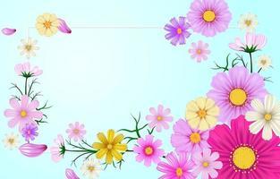 lindo fundo floral primavera vetor