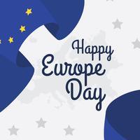 Fundo de vetor do dia da Europa