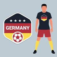 Conjunto de modelo de design de emblema de campeonato de futebol alemão vetor