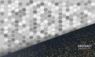 fundo abstrato escuro com camadas pretas de sobreposição. textura com plano de fundo texturizado hexágono. vetor