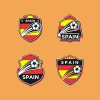 Vetor de patches de futebol de Espanha