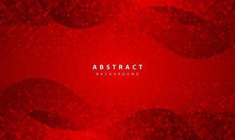 fundo abstrato escuro com camadas de sobreposição vermelhas. textura realista com decoração de elemento de pontos de brilhos dourados. vetor