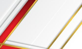 listras vermelhas e douradas do sumário do vetor moderno em fundo branco. modelo de design de vetor de design de conceito elegante para moldura, capa, banner, uso de cartão