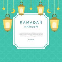 Ilustração em vetor plana Ramadan