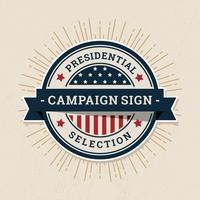 Rótulo de sinal de campanha vetor