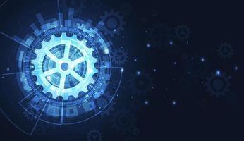 fundo de tecnologia futurista, tecnologia digital e conceito de engenharia. ilustração vetorial. vetor