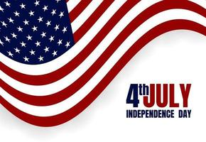 feliz dia da independência dos EUA, 4 de julho. bandeira, banner, cartaz, folheto, design de cartão de felicitações. ilustração vetorial vetor