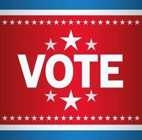 eleição presidencial nos EUA voto com estrelas vetor