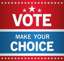 eleição presidencial nos EUA, escolha com desenho vetorial de estrelas vetor
