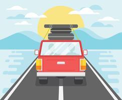 Ilustração de viagem por estrada vetor