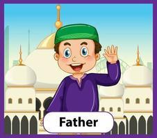 cartão educacional de palavras em inglês do pai vetor