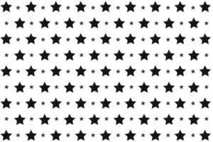 padrão de estrelas negras vetor