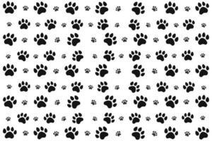 padrão de pata de animal preto