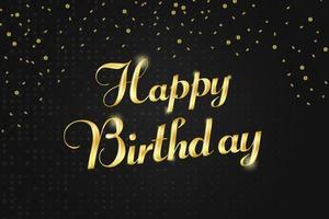 letras douradas de feliz aniversário vetor