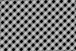 padrão de tecido xadrez preto e branco diagonal vetor