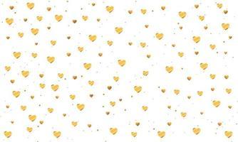 elegante fundo de corações dourados vetor