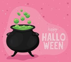 desenho de vetor caldeirão de bruxa de halloween