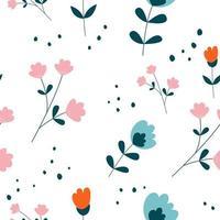 projeto do teste padrão sem emenda da flor floral do vetor. pode ser usado para papel de parede, plano de fundo, álbum de recortes e outro projeto criativo. vetor