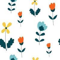 projeto do teste padrão sem emenda da flor floral do vetor. pode ser usado para papel de parede, plano de fundo, álbum de recortes e outro projeto criativo.