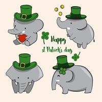 vetor de ilustração de elefante fofo. isolado no fundo branco.