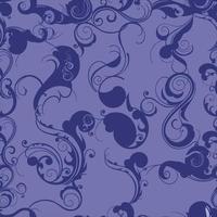 padrão decorativo de videiras e floreios vetor