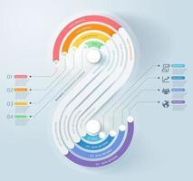 fundo do modelo de cronograma de infográficos de negócios. ilustrações vetoriais. vetor