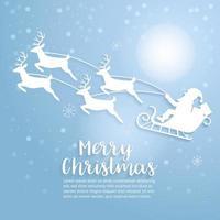 arte de feliz natal. vetor e ilustração.
