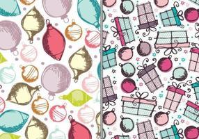 Ornamentos e presentes Pacote de padrões Illustrator vetor