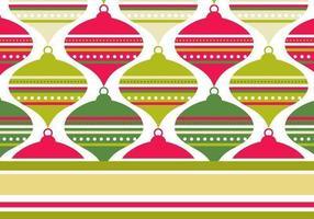 Pacote de papel de parede retro padrão vermelho e verde Illustrator vetor