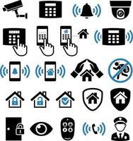 ícones de rede do sistema de segurança. ilustrações vetoriais. vetor