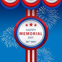 Feliz dia memorial decoração vetor