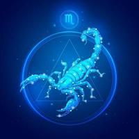 ícones do signo do Zodíaco Escorpião. vetor