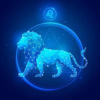 ícones do signo do Zodíaco Leo. vetor