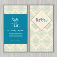 Convite de casamento decorativo vetor