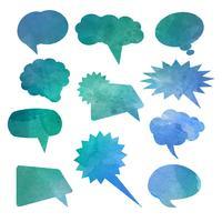 balões de fala em aquarela 0701 vetor