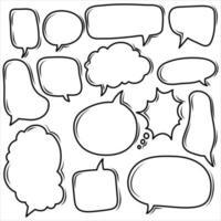 coleção de balões de pensamento vetor
