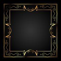Fundo elegante em ouro e preto vetor