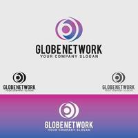 modelo de vetor de design de logotipo de rede globo