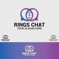 modelo de vetor de design de logotipo de anéis
