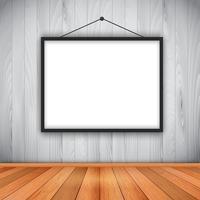 Porta-retrato em branco na parede vetor