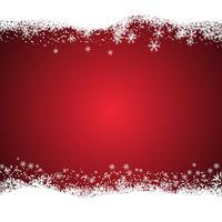 Fundo de Natal nevado vetor